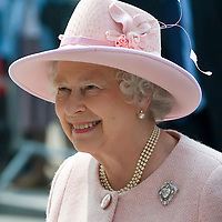 Liverpool  - England May22nd, Her Majesty  Queen  Elizabeth II visit the Liverpool Philarmonic Hall