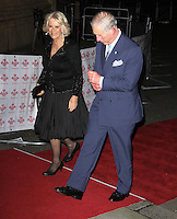 LONDON - NOVEMBER 28: Charles The Prince Of Wales; Camilla The Duchess Of Cornwall attended The Prince's Trust comedy gala 2012 'We Are Most Amused' at the Royal Albert Hall, London, UK. November 28, 2012. (Photo by Richard Goldschmidt)