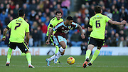 Burnley striker Andre Gray (7) during the Sky Bet Championship match between Burnley and Brighton and Hove Albion at Turf Moor, Burnley, England on 22 November 2015.