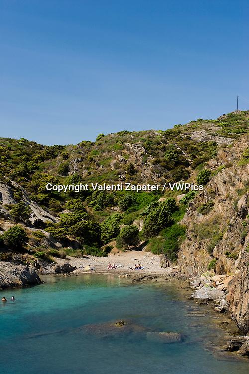 Jugadora cove (Cadaques, Costa Brava. Cap de Creus Natural Parc, (Girona, Catalonia, Spain). Cala Jugadora (Cadaqués, Costa Brava). Parc Natural del Cap de Creus