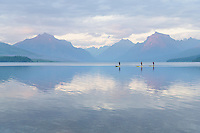 Paddle Boarding on Lake McDonald Glacier National Park Montana