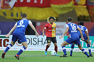 Katsumi Yusa of East Bengal during the final of the Hero Super Cup between East Bengal FC and Bengaluru FC held at the Kalinga Stadium, Bhubaneswar, India on the 20th April 2018<br /> <br /> Photo by: Arjun Singh / SPORTZPICS
