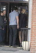 14.MAY.2013. HERTFORDSHIRE<br /> <br /> HETTI BYWATER AND DAVID WITTS SEEN FILMING SCENES FOR EASTENDERS AS CHARACTERS LUCY BEALE AND JOEY BRANNING AT A RESTAURANT IN BOREHAMWOOD, HERTFORSHIRE.<br /> <br /> BYLINE: EDBIMAGEARCHIVE.CO.UK<br /> <br /> *THIS IMAGE IS STRICTLY FOR UK NEWSPAPERS AND MAGAZINES ONLY*<br /> *FOR WORLD WIDE SALES AND WEB USE PLEASE CONTACT EDBIMAGEARCHIVE - 0208 954 5968*