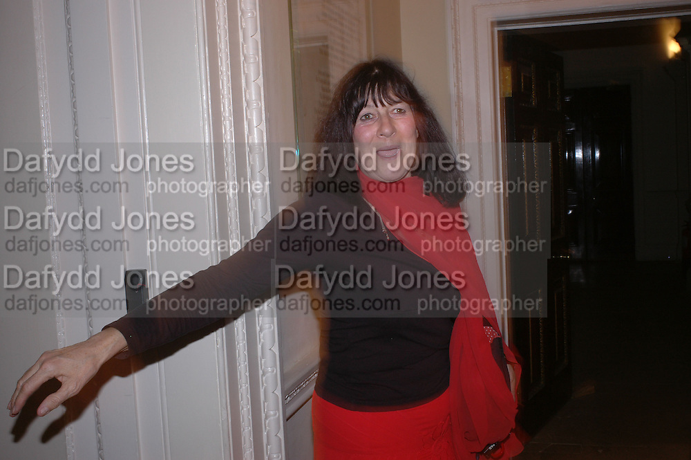 Valerie Grove. Everyman's Centenary Party. The Fine Rooms. Royal Academy. London. 15 February 2006. dddONE TIME USE ONLY - DO NOT ARCHIVE  © Copyright Photograph by Dafydd Jones 66 Stockwell Park Rd. London SW9 0DA Tel 020 7733 0108 www.dafjones.com