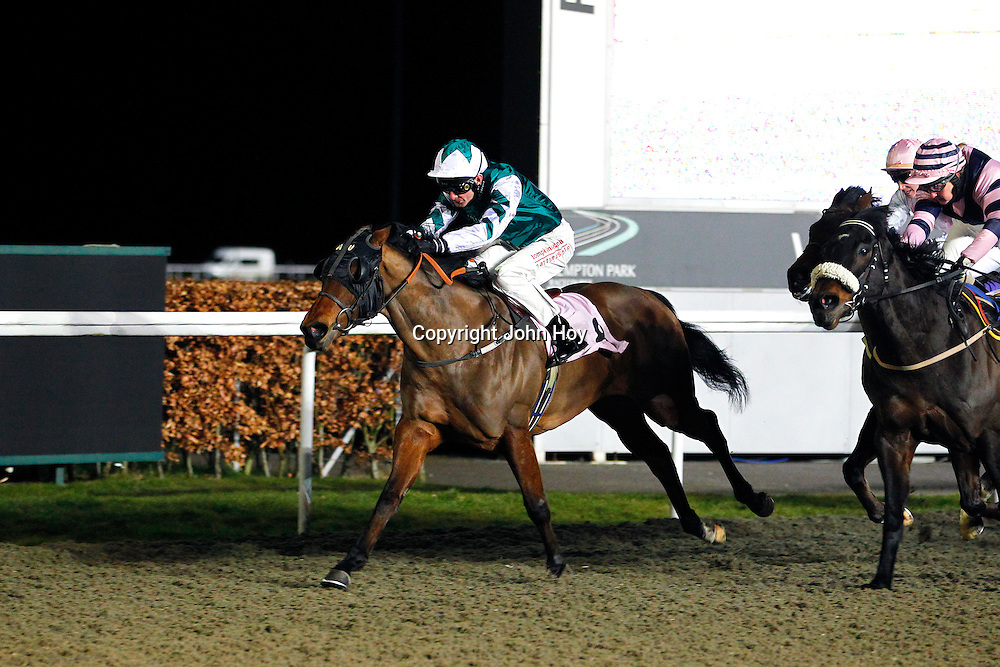 Littlecote Lady and R Havlin winning the 6.30 race