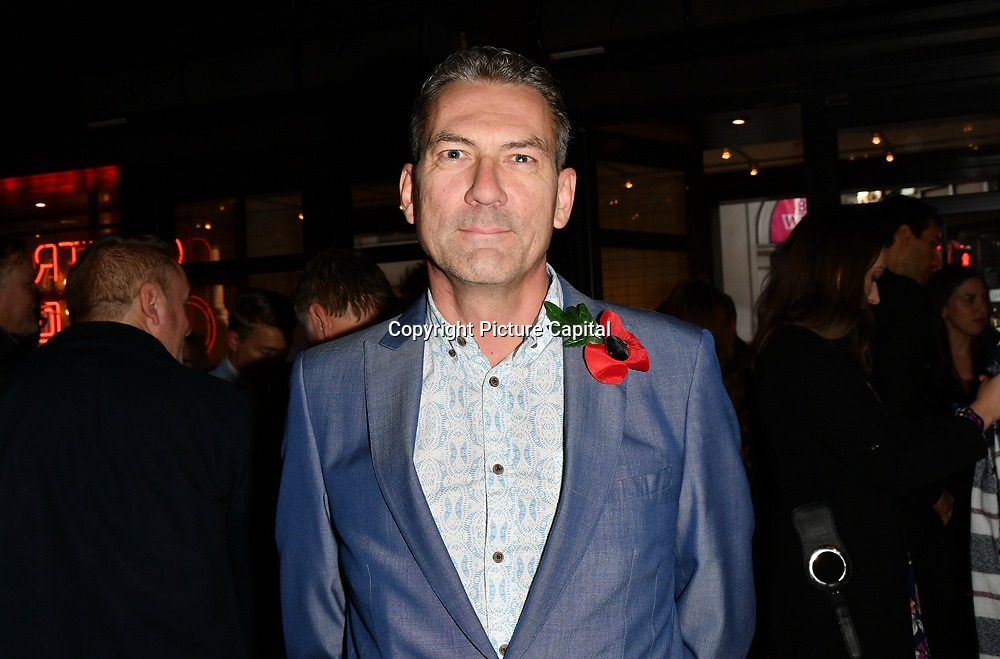 Jon Woodrow arrivers at Eleven Film Premiere at Picture House Central, Piccadilly Circus on 10 November 2018, London, Uk.