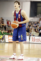 Vlado Ilievski of Barcelona during Euroleague basketball match between KK Union Olimpija and Barcelona, on November 11, 2004, in Hala Tivoli, Ljubljana, Slovenia. (Photo By Vid Ponikvar / Sportida.com)