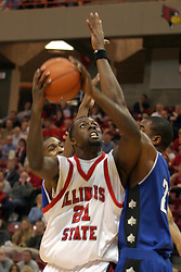 14 February 2004  Marcus Arnold works his way in. Illinois State Redbirds V Indiana State Sycamores at Redbird Arena in Normal Illinois.