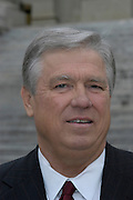Haley Barbour speaks to the press about supporting the banning of abortions, two years before he is elected Governor of Mississippi, at the State Capital in Jackson,MS.Wednesday January 22,2003.The lawn at the Mississippi State capital is covered in 1700 crosses that represent some of the 4000 abortions performed everday in america for the 30th anniversary of the Roe vs Wade Supreme court decision Wednesday January 22,2003.(Photo/Suzi Altman)