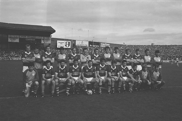 The Kerry team before the All Ireland Senior Gaelic Football Championship Final Kerry v Dublin at Croke Park on the 22nd September 1985. Kerry 2-12 Dublin 2-08. <br />