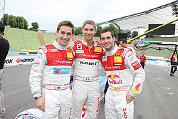 DTM Fahrer - Filipe Albuquerque + Edoardo Mortara + Miguel Molina - Media-Trackwalk zum DTM-Show-Event im Olympiastadion // during the DTM Show ,  on 2011/07/15, Olympia Stadion, Munich, Germany, EXPA Pictures © 2011, PhotoCredit: EXPA/ nph/  Schmitt       ****** out of GER / CRO  / BEL ******
