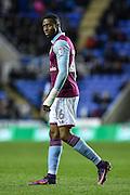 Aston Villa Forward, Jonathan Kodjia (26) goal scorer during the EFL Sky Bet Championship match between Reading and Aston Villa at the Madejski Stadium, Reading, England on 18 October 2016. Photo by Adam Rivers.