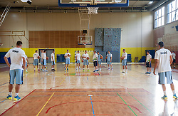Bozidar Maljkovic ©, head coach with players during training camp of Slovenian National basketball team for Eurobasket 2013 on July 19, 2013 in Sports hall Rogatec, Slovenia. (Photo by Vid Ponikvar / Sportida.com)