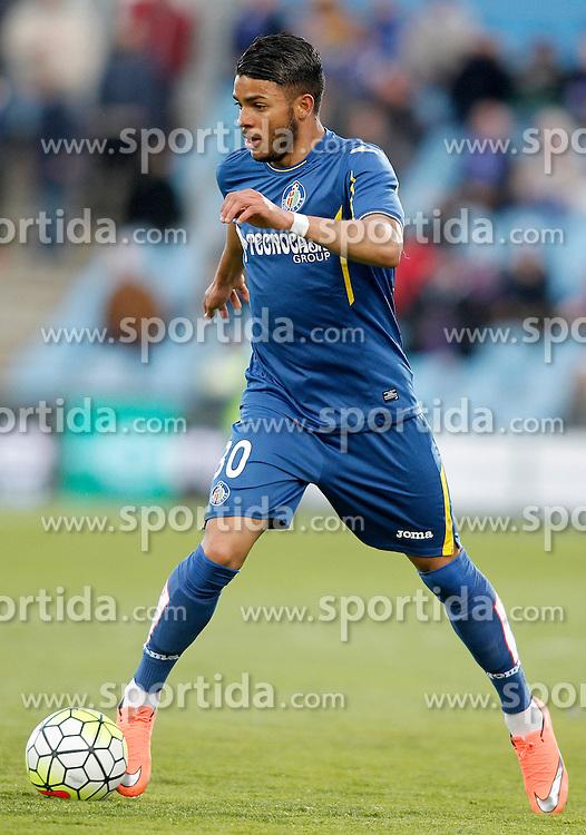 27.02.2016, Estadio Balaidos, Vigo, ESP, Primera Division, Getafe CF vs RC Celta, 26. Runde, im Bild Getafe's Wanderson // during the Spanish Primera Division 26th round match between Getafe CF and RC Celta at the Estadio Balaidos in Vigo, Spain on 2016/02/27. EXPA Pictures &copy; 2016, PhotoCredit: EXPA/ Alterphotos/ Acero<br /> <br /> *****ATTENTION - OUT of ESP, SUI*****