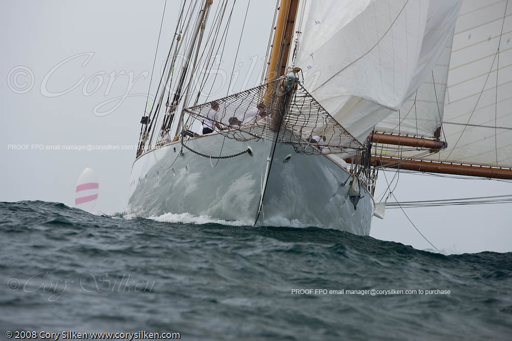 Eleonora racing at the Newport Bucket Regatta.