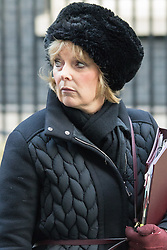 Downing Street, London, January 19th 2016. Minister for Small Business, Industry and Enterprise Anna Soubry leaves 10 Downing Street following the weekly cabinet meeting. ///FOR LICENCING CONTACT: paul@pauldaveycreative.co.uk TEL:+44 (0) 7966 016 296 or +44 (0) 20 8969 6875. ©2015 Paul R Davey. All rights reserved.