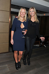 Left to right, DAVINA HARBORD and CHELSY DAVY at the Beulah AW13 Showcase, Bungalow 8 LFW Pop-Up at Belgraves - A Thompson Hotel, 20 Chesham Place, London SW1 on 13th February 2013.