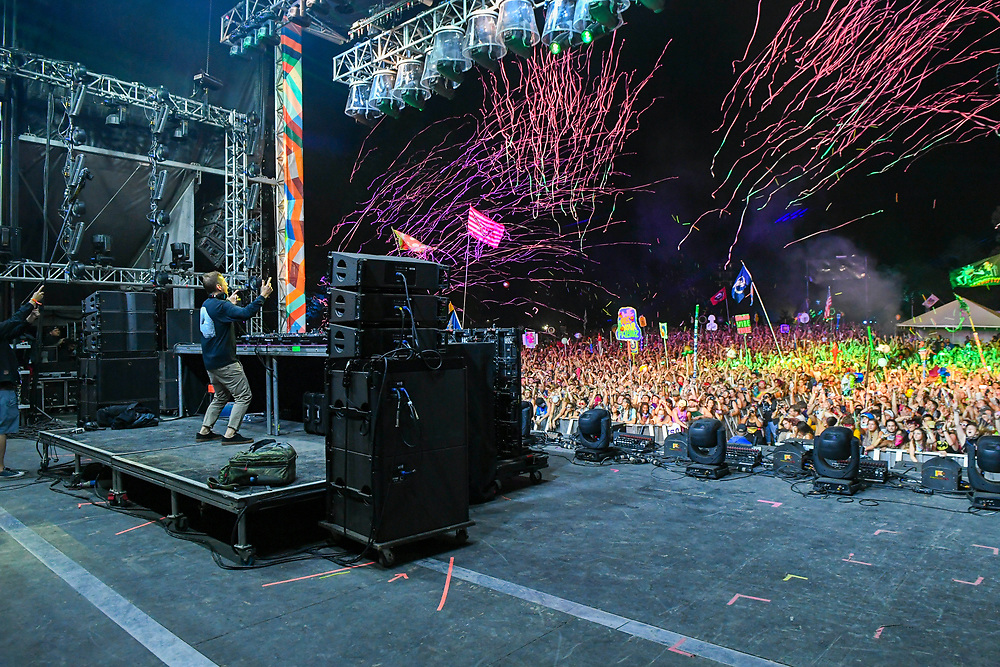 MANCHESTER, TN - JUNE 09: Kaskade performs onstage at The Other Tent during day 3 of the 2018 Bonnaroo Arts And Music Festival on June 9, 2018 in Manchester, Tennessee