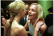 Laura Bailey and Elizabeth Murdoch. Pre Bafta party jointly hosted by Tina Brown and Elizabeth Murdoch. St. Martin's Lane Hotel. 8 April 2000<br />