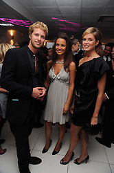 Left to right, SAM BRANSON, PIPPA MIDDLETON and ISABELLA ANSTRUTHER-GOUGH-CALTHORPE at The Reuben Foundation and Virgin Unite Haiti Fundraising dinner held at Altitude 360 in Millbank Tower, London on 26th May 2010.