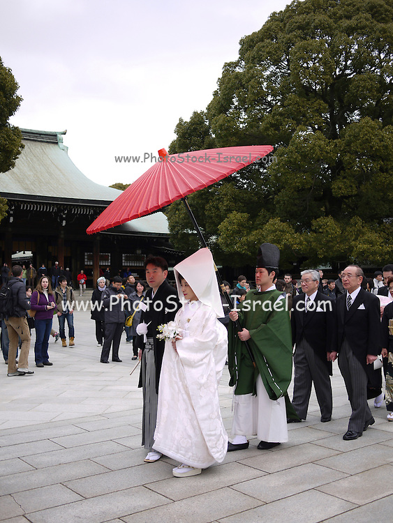 Japan, Tokyo, Meiji Shinto Shrine Traditional Shinto Wedding