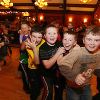 Shannon Schoolboys Soccer Award Recipients enjoying themselves at the Shannon Town Schoolboys Soccer Awards at the Oakwood Arms on Sunday evening.<br /><br />Photograph by Eamon Ward