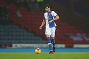 Blackburn Rovers defender, Gordon Greer (3) during the EFL Sky Bet Championship match between Blackburn Rovers and Brighton and Hove Albion at Ewood Park, Blackburn, England on 13 December 2016.