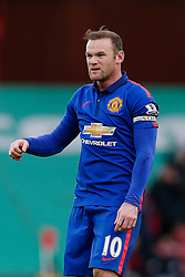 Wayne Rooney of Manchester United looks frustrated after missing with a free kick - Photo mandatory by-line: Rogan Thomson/JMP - 07966 386802 - 01/01/2015 - SPORT - FOOTBALL - Stoke-on-Trent, England - Britannia Stadium - Stoke City v Manchester United - New Year's Day Football - Barclays Premier League.
