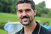 Julian Speroni poses for a candid during the Julian Speroni Testimonial Golf Day at the Surrey National Golf Club, Chaldon, United Kingdom on 9 September 2015. Photo by Michael Hulf.
