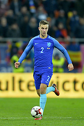 November 14, 2017 - Bucharest, Romania - JoÃ«l Veltman (Ned) during International Friendly match between Romania and Netherlands at National Arena Stadium in Bucharest, Romania, on 14 november 2017. (Credit Image: © Alex Nicodim/NurPhoto via ZUMA Press)