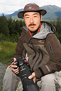 Photographer Takeshi Hanatani by the Kenai National Wildlife Refuge, Alaska, USA.
