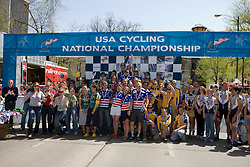 Division 1 team omnium winners Less-McRae College, Fort Lewis College, Colorado State University, University of California - Davis, and Stanford University.  Podium awards were given out after The 2008 USA Cycling Collegiate National Championships Criterium event held in Fort Collins, CO on May 11, 2008.