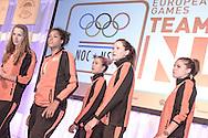 02-06-2015: Nieuws: Presentatie selectie Europese Spelen: Papendal<br /> <br /> (L-R) <br /> <br /> European Games Team NL bestaat tijdens de eerste editie van het evenement in Baku uit 120 topsporters. Zij komen in totaal uit in zeventien sporten en nemen deel aan 24 disciplines. Chef de mission is Jeroen Bijl