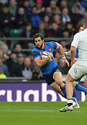 Twickenham, Great Britain, Yoann HUGET, during the Six Nations Rugby England vs France, played at the RFU Stadium, Twickenham, ENGLAND. <br /> <br /> Saturday   21/03/2015<br /> <br /> [Mandatory Credit; Peter Spurrier/Intersport-images]