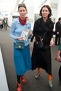 Valeria Napoleone and sister Stefania Pramma, OPENING OF FRIEZE ART FAIR. Regent's Park. London.  12 October 2011. <br /> <br />  , -DO NOT ARCHIVE-© Copyright Photograph by Dafydd Jones. 248 Clapham Rd. London SW9 0PZ. Tel 0207 820 0771. www.dafjones.com.