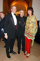 Left to right, SANDY NAIRN Director of the National Portrait Gallery, NEIL TENNANT and JANET STREET-PORTER at a fundraising gala to celebrate 150 years of The National Portrait Gallery, at the NPG, St.Martin's Place, London on 28th February 2006.<br />