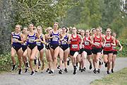 Start of the women's 3-mile run at the Washington Huskies/Seattle University Open at Warren G. Magnuson Park, Friday, Aug. 30, 2019, in Seattle. (Paul Merca/Image of Sport)