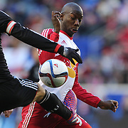 Bradley Wright-Phillips , New York Red Bulls, in action during the New York Red Bulls Vs D.C. United, Major League Soccer regular season opening match at Red Bull Arena, Harrison, New Jersey. USA. 22nd March 2015. Photo Tim Clayton