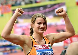 08-03-2015 CZE: European Athletics Indoor Championships, Prague<br /> Dafne Schippers pakt goud op de 60 meter