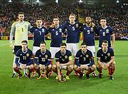 9th November 2017, Pittodrie Stadium, Aberdeen, Scotland; International Football Friendly, Scotland versus Netherlands; The Scotland team who started against Holland