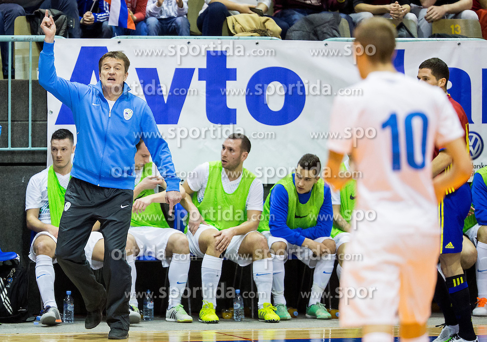 Andrej Dobovicnik, coach od Slovenia during futsal match between National teams of Slovenia and Spain in Play off of FIFA Futsal World Cup Colombia 2016 Qualifications, on March 22, 2016 in Arena Tabor, Maribor, Slovenia. Photo by Vid Ponikvar / Sportida