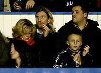 Photo. Glyn Thomas, Digitalsport<br /> Birmingham City v Bolton Wanderers<br /> Barclays Premiership. 04/01/2005.<br /> Robbie Savage (back R) watches from the stands as speculation over his future at Birmingham City mounts