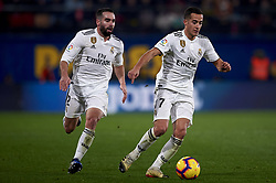 January 4, 2019 - Villarreal, Castellon, Spain - Lucas Vazquez  and Daniel Carvajal of Real Madrid in action during the week 17 of La Liga match between Villarreal CF and Real Madrid at Ceramica Stadium in Villarreal, Spain on January 3 2019. (Credit Image: © Jose Breton/NurPhoto via ZUMA Press)