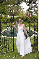 Bride in Formal Garden