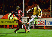 Northampton  midfielder Nicky Adams puts a cross into the box during the Sky Bet League 2 match between Crawley Town and Northampton Town at the Checkatrade.com Stadium, Crawley, England on 24 November 2015. Photo by David Charbit.
