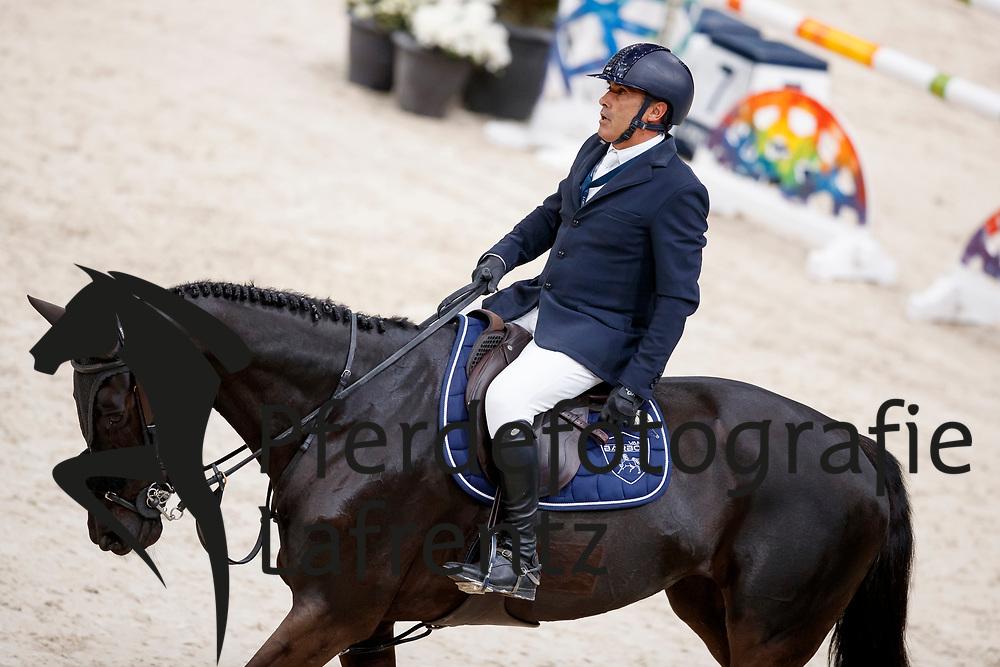 ANGOT Reynald (FRA), Symphonie des Biches<br /> Paris - FEI World Cup Finals 2018<br /> Grand Prix / Grosser Preis<br /> www.sportfotos-lafrentz.de/Stefan Lafrentz<br /> 15. April 2018