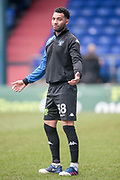 Jermaine Pennant (Bury) warming up before the EFL Sky Bet League 1 match between Oldham Athletic and Bury at Boundary Park, Oldham, England on 11 March 2017. Photo by Mark P Doherty.