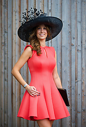LIVERPOOL, ENGLAND - Friday, April 4, 2014: Michelle McGuiness of Aesthetically You of Liverpool during Ladies' Day on Day Two of the Aintree Grand National Festival at Aintree Racecourse. (Pic by David Rawcliffe/Propaganda)