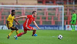 WREXHAM, WALES - Friday, September 6, 2019: Wales' Rhys Norrington-Davies during the UEFA Under-21 Championship Italy 2019 Qualifying Group 9 match between Wales and Belgium at the Racecourse Ground. (Pic by Laura Malkin/Propaganda)