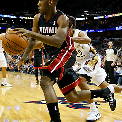 Oct 23, 2013; New Orleans, LA, USA; Miami Heat point guard Norris Cole (30) against the New Orleans Pelicans during the second half of a preseason game at New Orleans Arena. The Heat defeated the Pelicans 108-95. Mandatory Credit: Derick E. Hingle-USA TODAY Sports